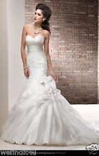 S228W MAGGIE SOTTERO CLAIRE SZ 12 IVORY $1149  WEDDING DRESS GOWN