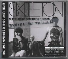 Donghae & Eunhyuk: Skeleton (2014) Japan Super Junior  / CD & CARD TAIWAN