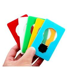 NEW Portable Pocket Folding LED Card Light Lamp Put in Purse Wallet