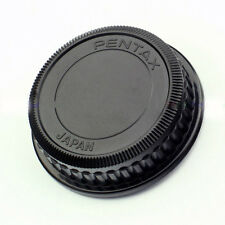 Rear Lens Caps Cover Plastic Round For Pentax PK 18-55mm 55-300m 40mm Black