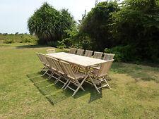Ensemble salon de jardin en teck BATAN 12 chaises