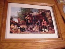 Tait picture hunting camp titled Good time coming framed