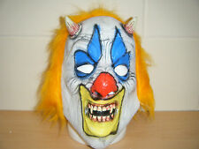 CLOWN MONSTER SCARY ADULT HALLOWEEN LATEX MASK FANCY DRESS COSTUME SLIPKNOT UP