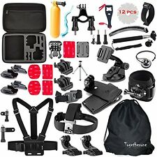 50 in 1 Pole Head Chest Mount Strap GoPro Hero 2 3 4 Camera Accessories Set Kit