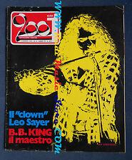 rivista CIAO 2001 9/1974 Leo Sayer B.B.King Jerthro Tull Renato Zero Magma No cd