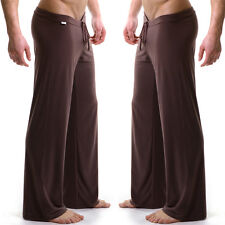 Men's Sheer Loose Yoga Sports Pants Casual Home Trousers Lounge Pantalons Trunks