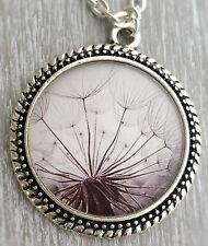 Halskette mit Anhänger Pusteblume Dandelion Pusteblumen Löwenzahn Natur Damen