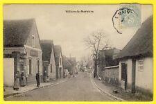 cpa 28 Village de VILLIERS le MORHIER (Eure et Loir) Grande Rue CAFÉ BOUTILLIER