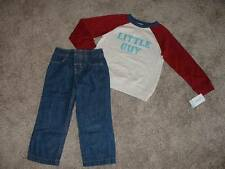 Carter's Toddler Boys Little Guy Pants Top Set Outfit Size 4T 4 NWT NEW Clothes