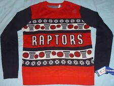 AUTHENTIC Toronto Raptors UGLY HOLIDAY/CHRISTMAS Sweater Licensed NWT XL jersey