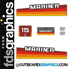 Mariner 15hp rainbow outboard engine decals/sticker kit - 20 25 & 40hp available