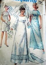 LOVELY VTG 1960s WEDDING DRESS Sewing Pattern 16/36