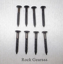 8 x Humbucker Pickup Surround Mounting Ring Screws for Les Paul, SG, ES (BLACK)