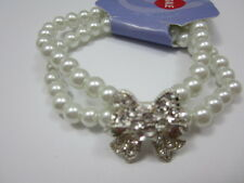 Crystal Bow Pearl Bracelet