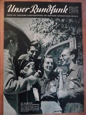 UNSER RUNDFUNK 24- 1954 Prog: 6.-12.6. II. Deutschlandtreffen Beerfelde FF DABEI
