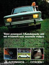 PUBLICITE ADVERTISING  026  1969  Autobianchi A 111 par Citroen