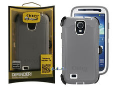 New OtterBox Defender Case for Samsung Galaxy S4 Gray/White * Cover OEM Original