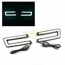 U-SHAPED C-SHAPED DRL! USA COB 8K ICE BLUE LED DAYTIME RUNNING LIGHTS FOR FORD!