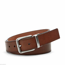 "Men's Fossil Brown Leather Silver Buckle Belt ""Sedrick"" Size 36"