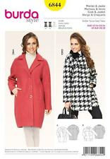 BURDA SEWING PATTERN LADIES Voluminous COAT & JACKET  SIZES 6/8 - 26/28 6844