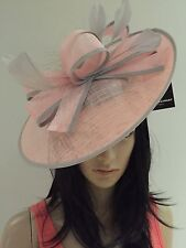 NIGEL RAYMENT PINK SILVER  DISC FASCINATOR WEDDING ASCOT HAT MOTHER OF THE BRIDE