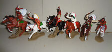 Mounted INDIAN WARRIORS  ARGENTINA DSG Plastic Toy Soldiers set Britains