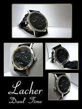 elegante & classico & elegante per Lacher Dual Time orologio Hotel sulla uomo