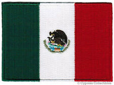 MEXICO NATIONAL FLAG PATCH MEXICAN EMBROIDERED IRON-ON applique PARCHE