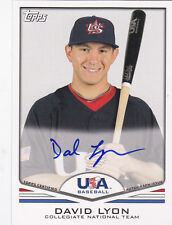 2011 Topps USA Baseball David Lyon Autograph Auto Card