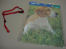 "New Beagle Dog 2 Piece Lot Garden Flag Head Collar (Adjusts To 17"") #48"