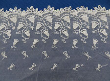 EDGING TRIM BELL FLOWERS COULD BE USED AS DETAIL ON ANTIQUE LACE WEDDING DRESS