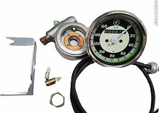 BMW 0-160 KPH MOTORCYCLE SPEEDO REPLICA FIT MANY MODELS SMITHS DRIVE & CABLE