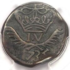 1735 India Damao 20 Reis Coin (20R, KM-15) - Certified PCGS VF Details - Rare!