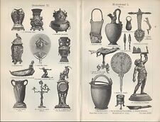 Lithografie 1905: Moderne Bronze-Kunst-Industrie. Kerzen-Ständer Lampe Leuchter