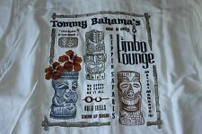 Tommy Bahama Camp Shirt Limbo Lounge White Embroidered 100% Silk Large L T315368