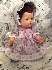 "Doll Clothes For 13"" Tiny Tears, Dydee Dolls ""Lilac Floral Dress Set"""