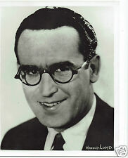 Harold Lloyd Actor Vintage 1950s Portrait Photograph 10 x 8