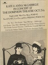 16/10/82Pgn34 Advert: Kate & Anna Mcgarrigle Single move Over Moon 7x5