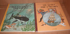 Lot of 2 The Adventures of Tintin Books by Herge Hardcover NEW