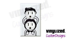 Adult 2 Plug Decal W/ White Outlet Cover Plate Funny Dorm College Gag Gift Party