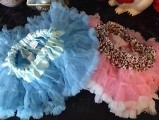 Lot Of 2 Baby Girl Tutus 0-2t Pink Leopard Petty Skirt Petti Skirt Blue