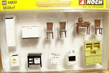 HO 1:87 Noch scale old style INTERIOR KITCHEN FURNITURE & APPLIANCES