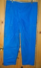 American Clipper Rainwear Vintage Blue PVC Coated Nylon Pants, Mens XXL