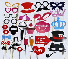 31PCS Photo Booth DIY Mask Mustache Stick Props Wedding Birthday Christmas Party