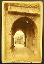 Photo c 1900 La porte du Roi Mont Saint Michel Photographie ancienne 16cm