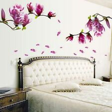 DIY Magnolia Flower Wall Decal Vinyl Sticker Mural Art Living Room Home Decor