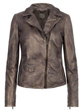 Muubaa Lyme Copper leather rider biker jacket. RRP £349. UK 8. M0388 See Details
