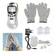 Digital Therapy Machine Full Body Massager Acupuncture F# 2 Pads+Gloves+Charger