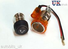 Orange UNIVERSAL 12V Cigar Cigarette Plug Lighter SOCKET & PLUG SATNAV 12 VOLT