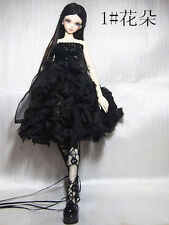 New Black Lace Evening Dress With Sequins for BJD Girl 1/3 1/4 Doll Clothes
